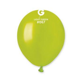 50 Ballons métallisés vert anis Ø13cm