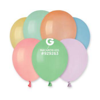 50 Ballons assortis macaron Ø13cm