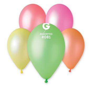 10 Ballons fluorescent assortis Ø30cm
