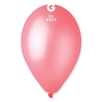 10 Ballons fluo rouge Ø30cm