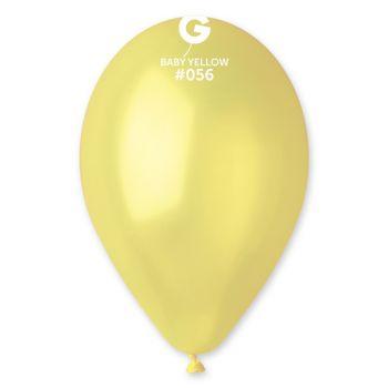 100 Ballons métallisés jaune pastel Ø30cm