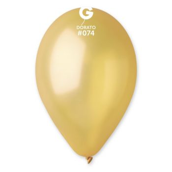 50 Ballons métallisés doré Ø30cm