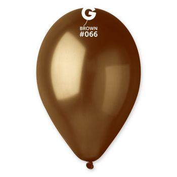 50 Ballons métallisés marron Ø30cm