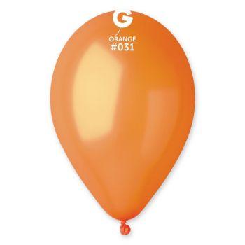 50 Ballons métallisés orange Ø30cm