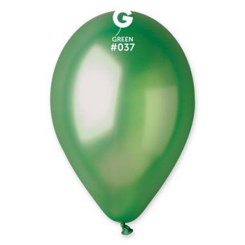 10 Ballons métallisés vert Ø30cm