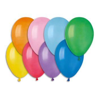100 Ballons assortis Ø21cm