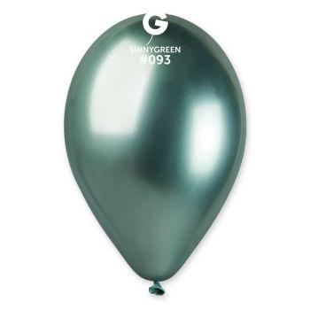 25 Ballons shinny métallisés vert Ø33cm