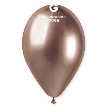 25 Ballons shinny métallisés rose gold Ø33cm
