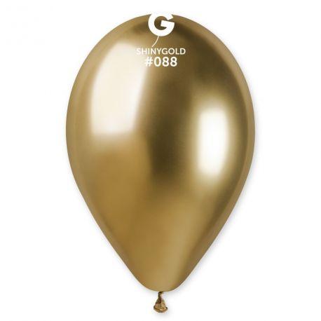 25 Ballons en latex de couleur métallisés shiny or idéal pour vos décoration de fête,d'anniversaire ainsi que vos arches à ballons car...