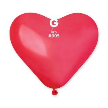 50 Ballons coeur rouge 25cm