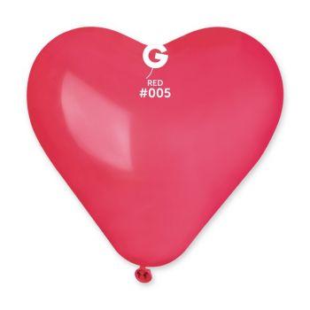 3 Ballons géant coeur rouge 44cm