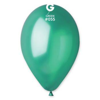 100 Ballons métallisés vert sapin Ø30cm