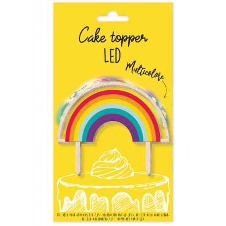 Scrapcooking illumine vos plus jolis gâteaux d'anniversaire grâce à ce cake topper lumineux en forme d'arc en ciel associant la chaleur...