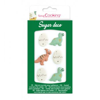 Décors en sucre Dino Scrapcooking