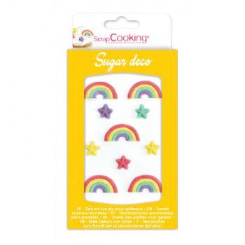 Décors en sucre Rainbow Scrapcooking