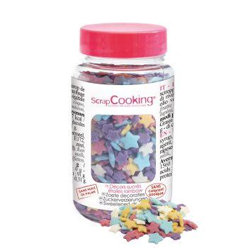 Confettis en sucre étoilé Rainbow Scrapcooking 55g