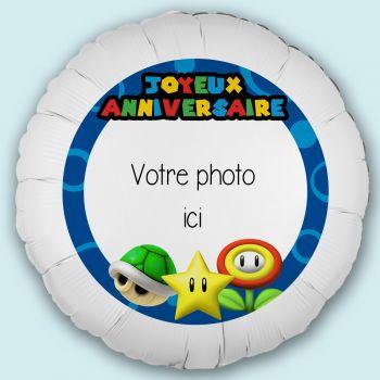 Maxi ballon personnalisé décor Mario Bross Ø43cm