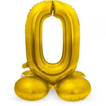 Ballon géant chiffre à poser Or N°0