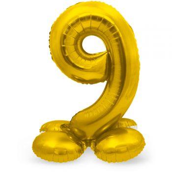 Ballon géant chiffre à poser Or N°9