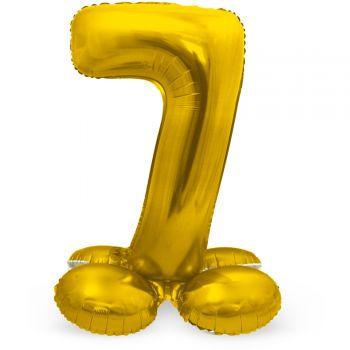 Ballon géant chiffre à poser Or N°7