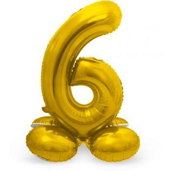 Ballon géant chiffre à poser Or N°6