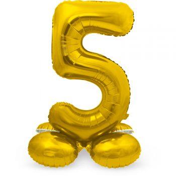 Ballon géant chiffre à poser Or N°5