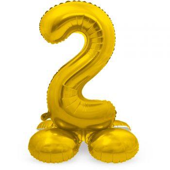 Ballon géant chiffre à poser Or N°2