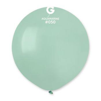 10 Ballons vert d'eau Ø48cm