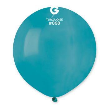 10 Ballons turquoise Ø48cm