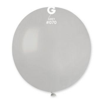 10 Ballons gris Ø48cm