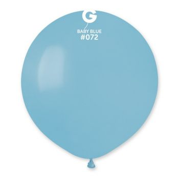 10 Ballons bleu bébé Ø48cm