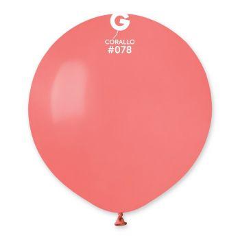 10 Ballons corail Ø48cm