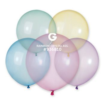 10 Ballons cristal assortis Ø48cm