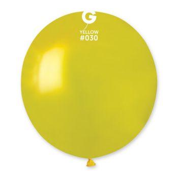 10 Ballons métallisés jaune Ø48cm