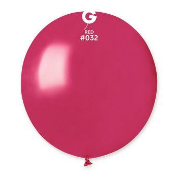 10 Ballons métallisés rouge berry Ø48cm
