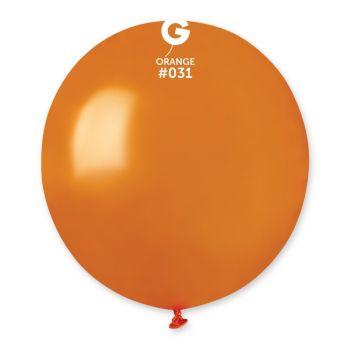 10 Ballons métallisés orange Ø48cm