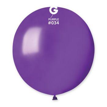 10 Ballons métallisés violet Ø48cm