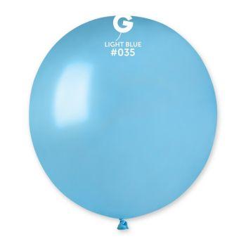 10 Ballons métallisés lagon Ø48cm