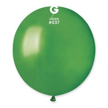 10 Ballons métallisés vert Ø48cm