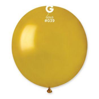 10 Ballons métallisés or Ø48cm