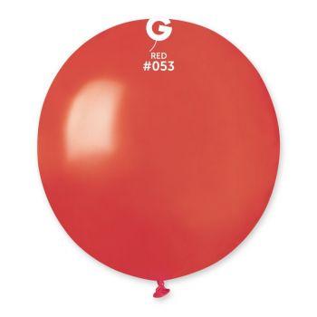 10 Ballons métallisés rouge Ø48cm