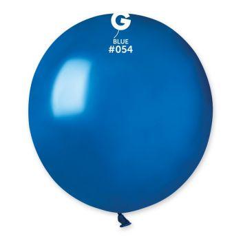 10 Ballons métallisés bleu roi Ø48cm