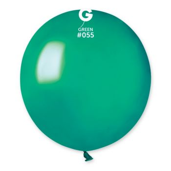 10 Ballons métallisés vert sapin Ø48cm