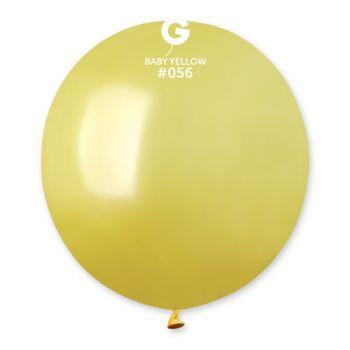 10 Ballons métallisés jaune pastel Ø48cm