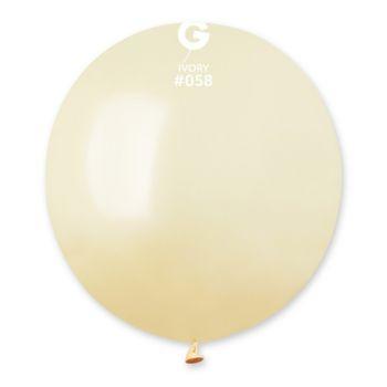 10 Ballons métallisés ivoire Ø48cm