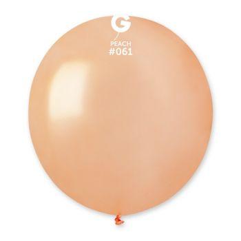 10 Ballons métallisés pêche Ø48cm