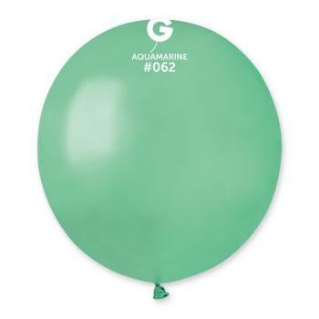10 Ballons métallisés vert d'eau Ø48cm