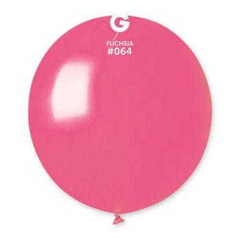 10 Ballons métallisés fuchsia Ø48cm