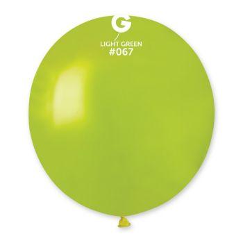 10 Ballons métallisés vert anis Ø48cm