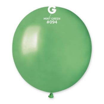 10 Ballons métallisés mint Ø48cm